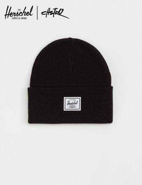 כובע צמר שחור עם לוגו Herschel / יוניסקס