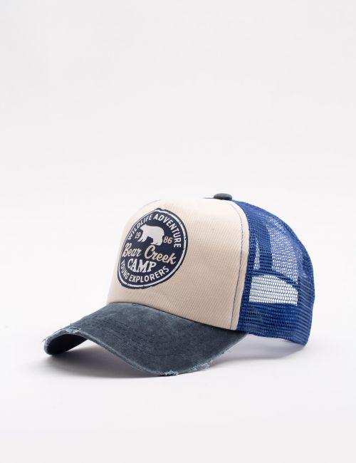 כובע מצחייה עם הדפס קדמי