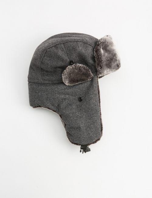 כובע טייסים עם בטנת פרווה
