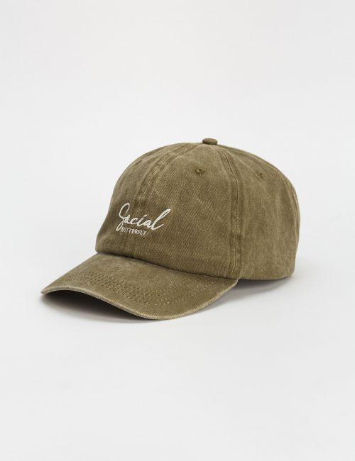 כובע מצחייה במראה מכובס ורקמה