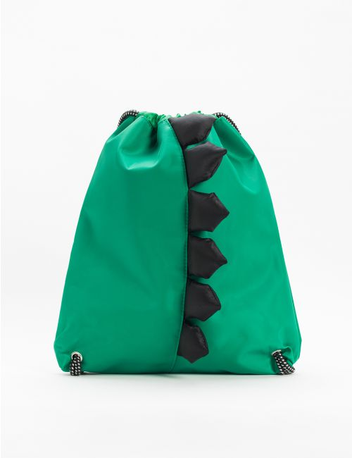 תיק גב ירוק במראה דינוזאור