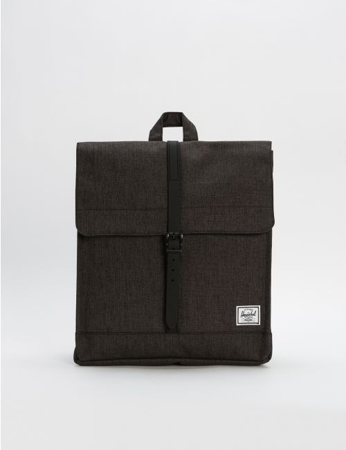 תיק גב HERSCHEL CITY MID-VOLUME BLACK CROSSHATCH/BLACK RUBBER