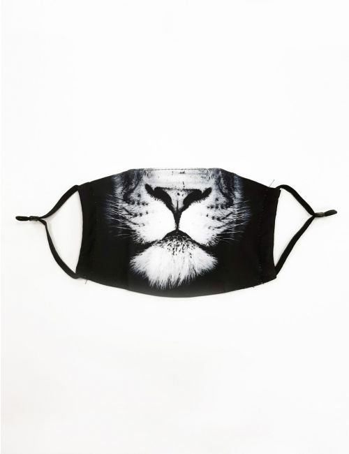 מסכת פנים בהדפס אריה למבוגרים