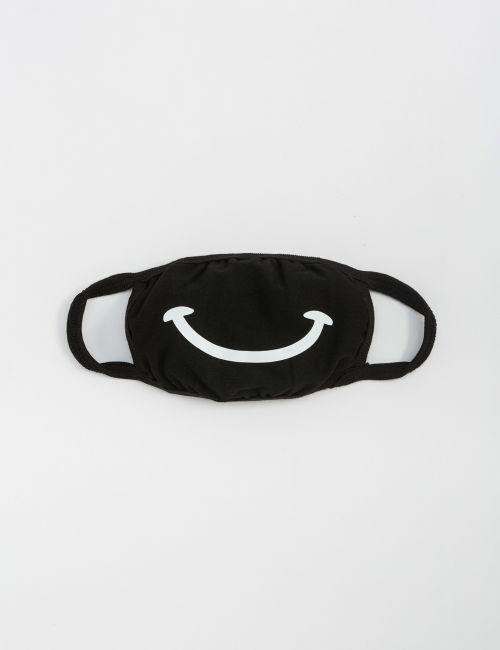 מסכת פנים עם הדפס חיוך