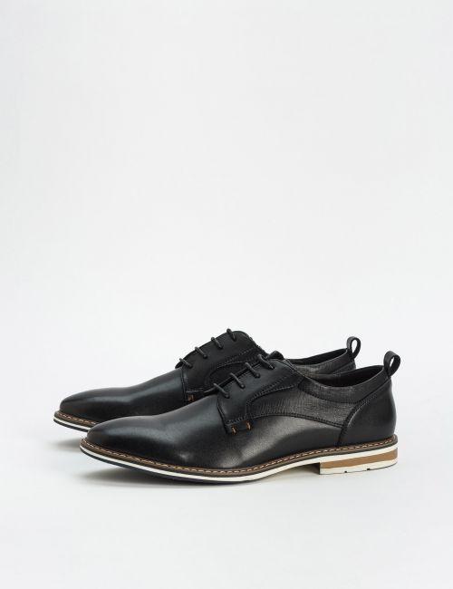 נעלי עור עם סוליה משולבת