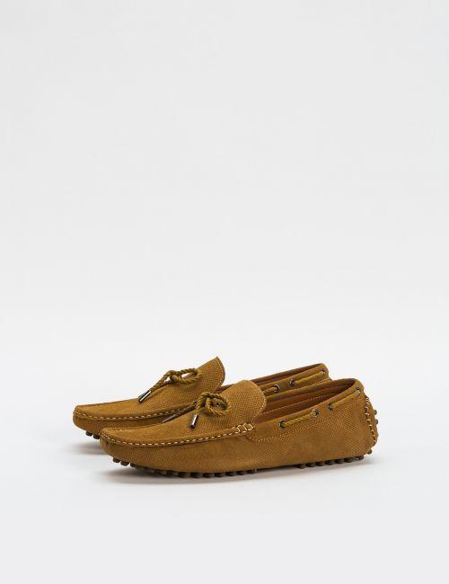 נעלי מוקסין מעור