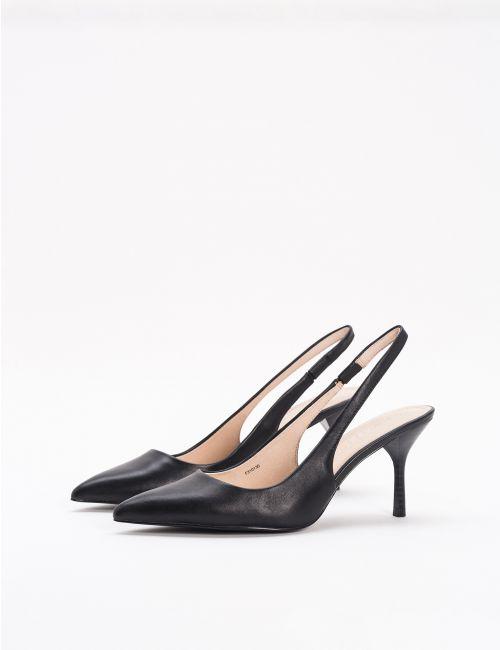 נעלי עקב מעור
