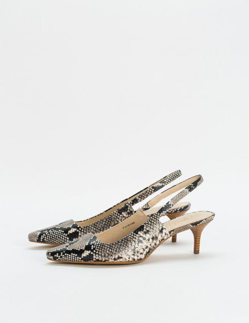 נעלי עקב שפיץ מעור
