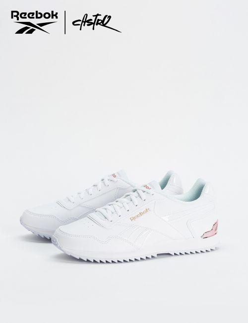 נעלי Reebok לבנות עם פס וורוד / נשים