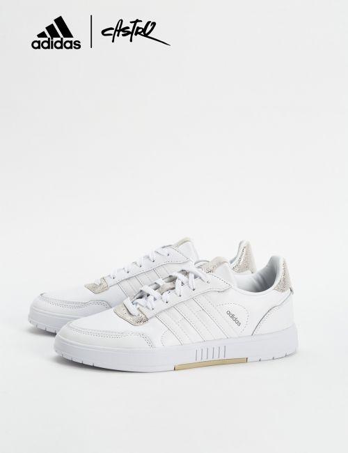 נעלי Adidas לבנות וזהב נצנצים / נשים