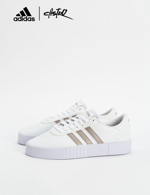 נעלי Adidas לבנות ופסים בצבע מולטי / נשים