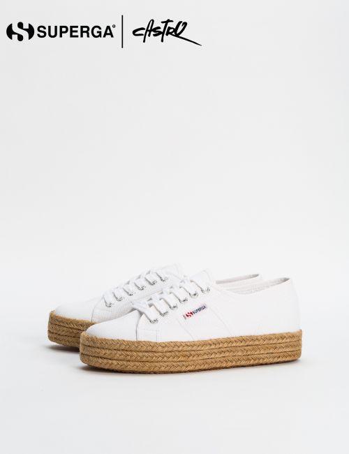נעלי Superga לבנות עם סוליית אספדריל / נשים