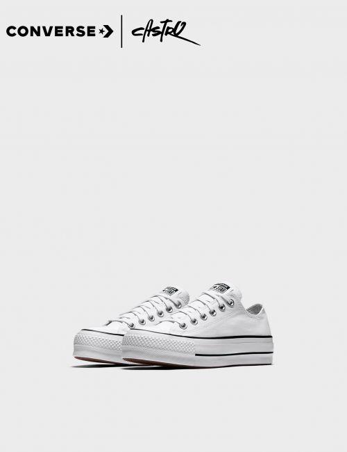 נעלי Converse לבנות עם סוליה גבוהה / נשים
