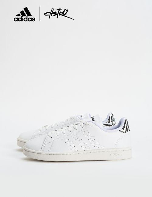 נעלי Adidas לבן ודפוס זברה / נשים