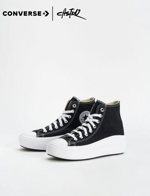 נעלי Converse שחורות עם סוליה גבוהה/ נשים