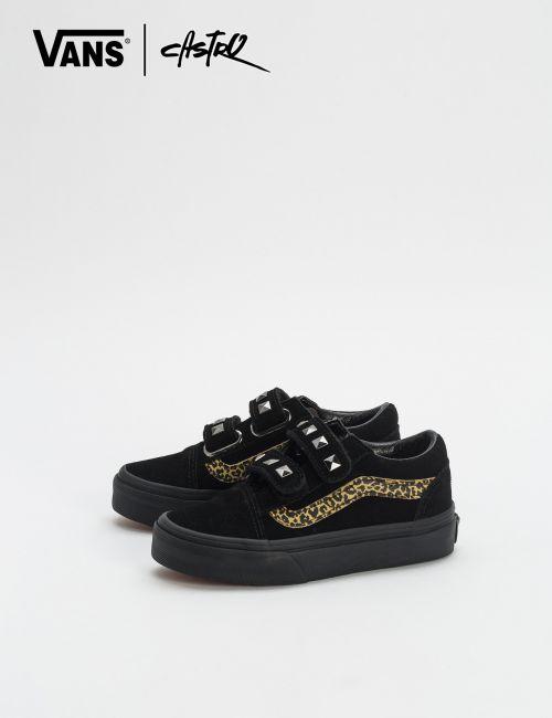 נעלי Vans מנומרות עם ניטים / ילדות