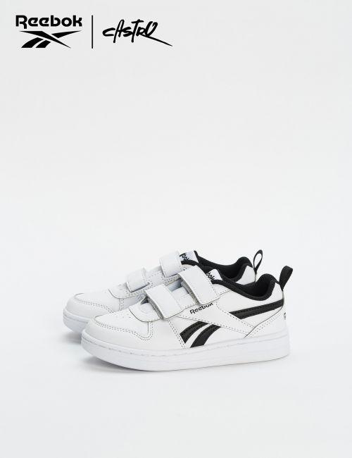 נעלי Reebok שחור ולבן סקוצ'ים / ילדים