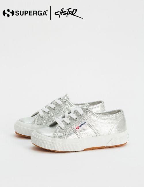 נעלי Superga בצבע כסף / ילדות