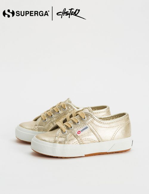 נעלי Superga בצבע זהב / ילדות