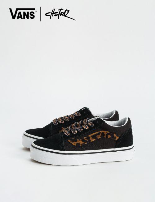 נעלי Vans שחורות ומנומרות / ילדות