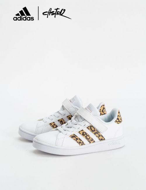 נעלי Adidas לבן ומנומר / ילדות