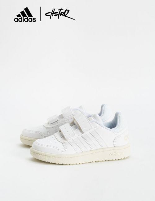 נעלי Adidas לבנות עם סקוצ'ים / ילדות