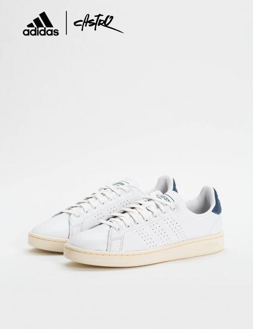 נעלי Adidas לבנות וכחול זמש / גברים