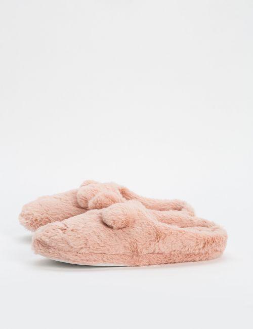 נעלי בית פרוותיות עם פונפונים