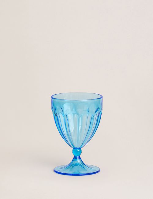 "כוס יין אקריליק FLOWER / 240 מ""ל"