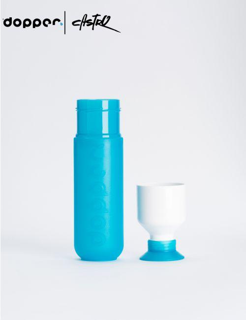 בקבוק שתיה Dooper רב פעמי 450 מל בצבע כחול טורקיז