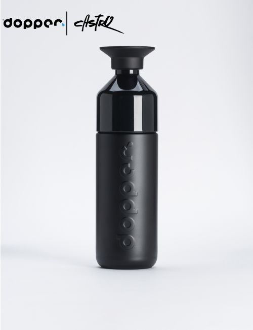 בקבוק שתיה Dooper רב פעמי 580 מל בצבע שחור