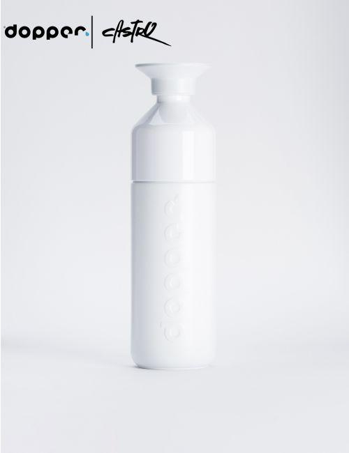 בקבוק שתיה Dopper רב פעמי 580 מל בצבע לבן
