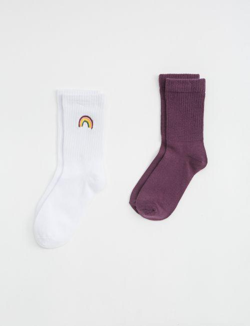 זוג גרביים קשת בענן