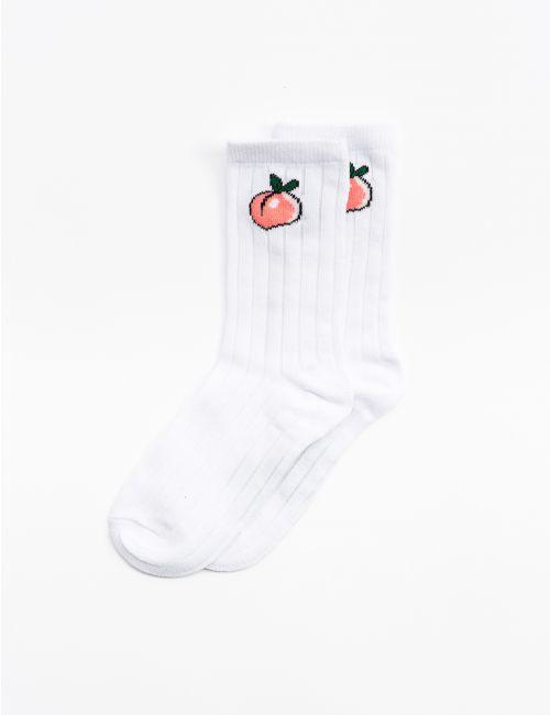 גרביים עם רקמת אפרסק