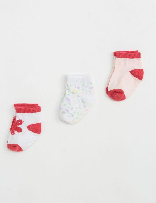 שלישיית גרביים מודפסים למניעת החלקה